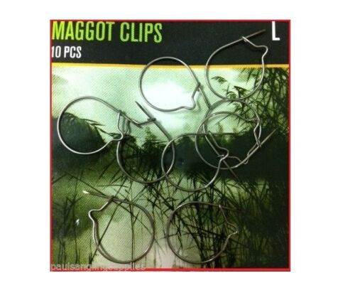 Maggot Clips All sizes for Carp Coarse Barbel Fishing Ideal hair Rig etc