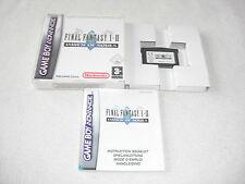Final Fantasy I & II GBA Gioco completo di scatola originale e istruzioni