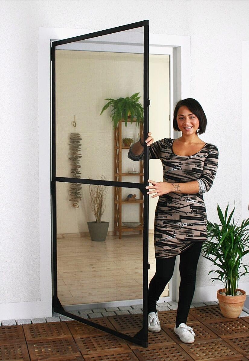 Profi Fliegengittertür Insektenschutztür Tür Alu Rahmen 1,2x2,1m braun | Adoptieren  | Attraktives Aussehen  | Spezielle Funktion  | Verschiedene Arten und Stile