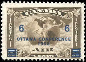 1932-Canada-Mint-H-F-Scott-C4-C2-Surcharged-Air-Mail-Issue-Stamp