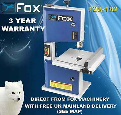 Fox F28-182A Benchtop Bandsaw with 3 year warranty