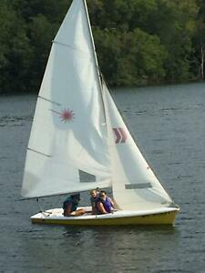 1984 Laser 2 13' Sailboat Located in Petersburg, IL - Has Trailer