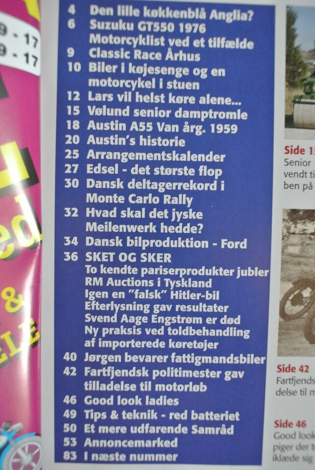 veteranposten nr. 1 2010 4. årgang, emne: bil og motor