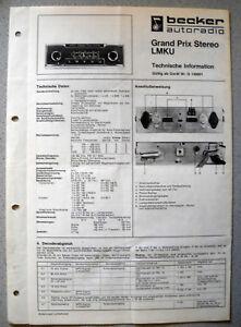 becker-Grand-Prix-Stereo-LMKU-Autoradio-Service-Manual-ab-Nr-140001