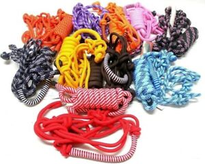 Lot-of-3-D-A-Brand-Cowboy-Poly-Rope-Halters-w-8-039-Leads-Horse-Tack
