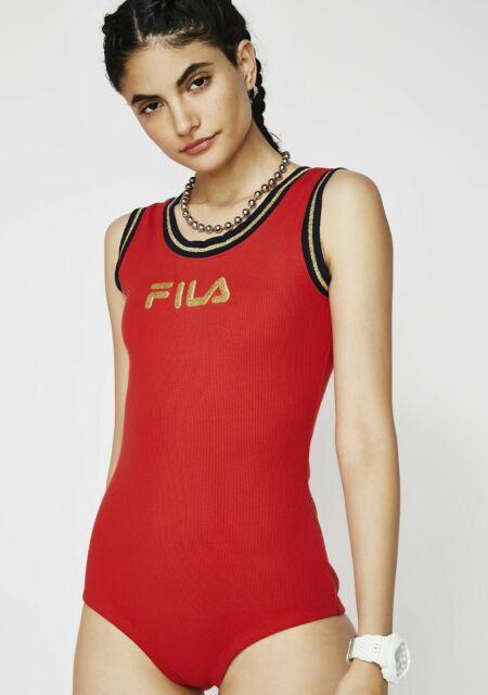 581add4b3f88 NWT Fila jessa womens red bodysuit size medium