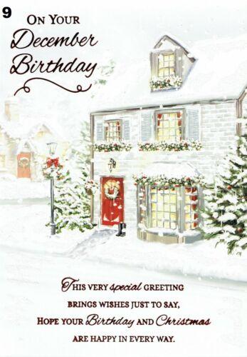 DECEMBER BIRTHDAY ~ Quality Christmas Season Card ~ CHOICE of DESIGNS ~ L@@k