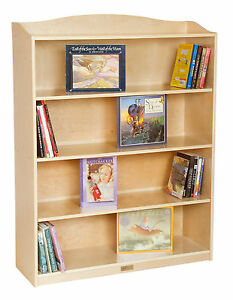 Guidecraft 5 Shelf Bookshelf in Natural Wood Finish