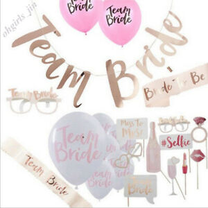 Team-Braut-Hen-Night-Out-Bachelorette-Party-Zubehoer-Hochzeit-Decor-Supplies