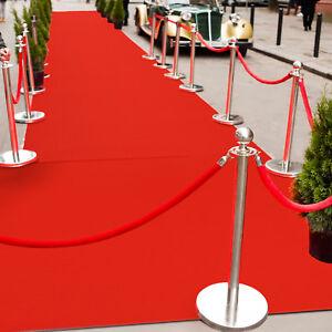 Hochzeitsl/äufer PODIUM Empfangsteppich VIP Event-Teppich-L/äufer Hochzeitsteppich 1,50m x 5,00m Teppichboden f/ür Messe /& Event Rot Eventteppich