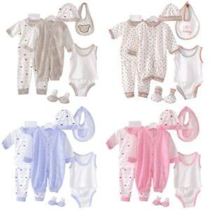 5Pcs-Newborn-Infant-Baby-Girl-Boy-Shirt-Pants-Hat-Bid-Set-Outfits-Clothes-0-3M