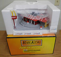 Mth 30-9114 Operating Mcdonald's Fastfood Restaurant O Gauge Toy Train Accessory