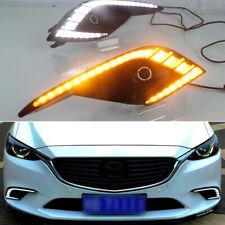 Chrome High Power  L Shape DRL LED Daytime Running Lights x2 For Mazda 2016