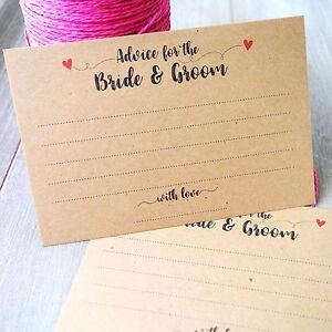 Image Is Loading Advice Cards For Bride Amp Groom Wedding Guest