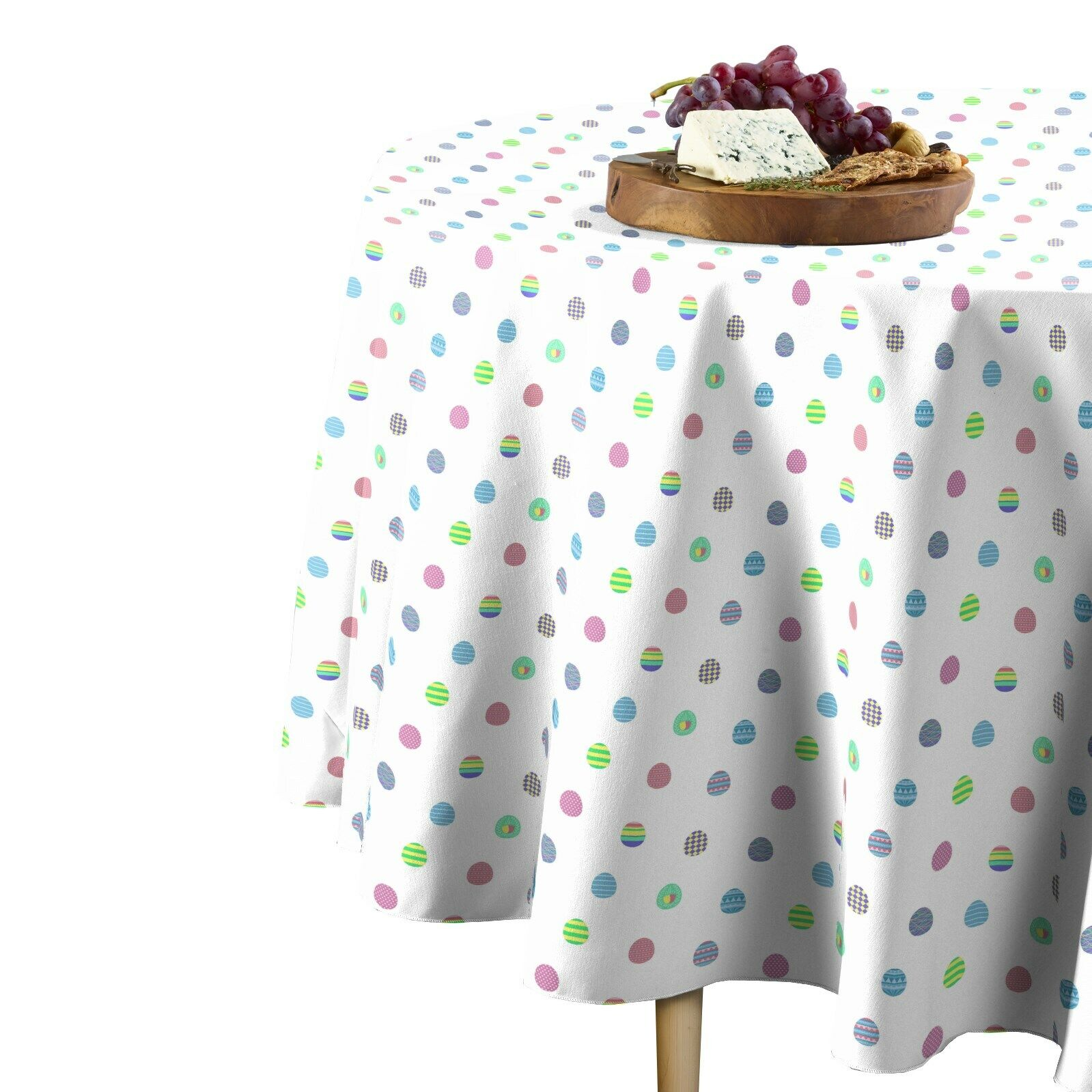 Easter Egg Toss Multi Signature Round Tablecloth Assorted Größes