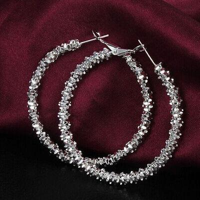 Fashion Women Jewelry Silver Star Hoop Dangle Earring US Charm Hot