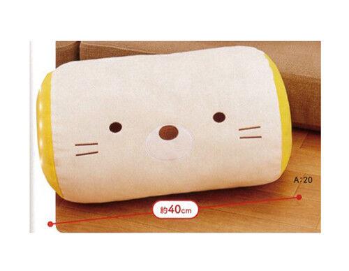 NEW Sumikko Gurashi Neko Face Cushion Roll Large DX Plush 40cm SS9190 US Seller
