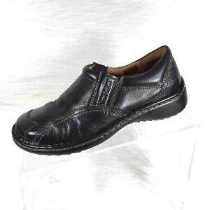 joseph seibel women's loafers black leather casual shoes