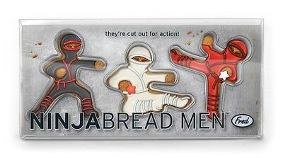 3p Set Ninja Bread Cookie Cutters: Gingerbread Men Figures Fred n Friends NBREAD