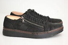 NEW John Varvatos Star USA Barrett Creeper Zip Low Top Sneaker- Black 7.5M (X61)