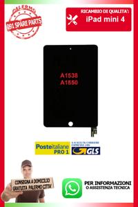 FLAT-FLEX-LCD-DISPLAY-SCHERMO-VETRO-TOUCH-PER-IPAD-MINI-4-A1538-A1550-NERO