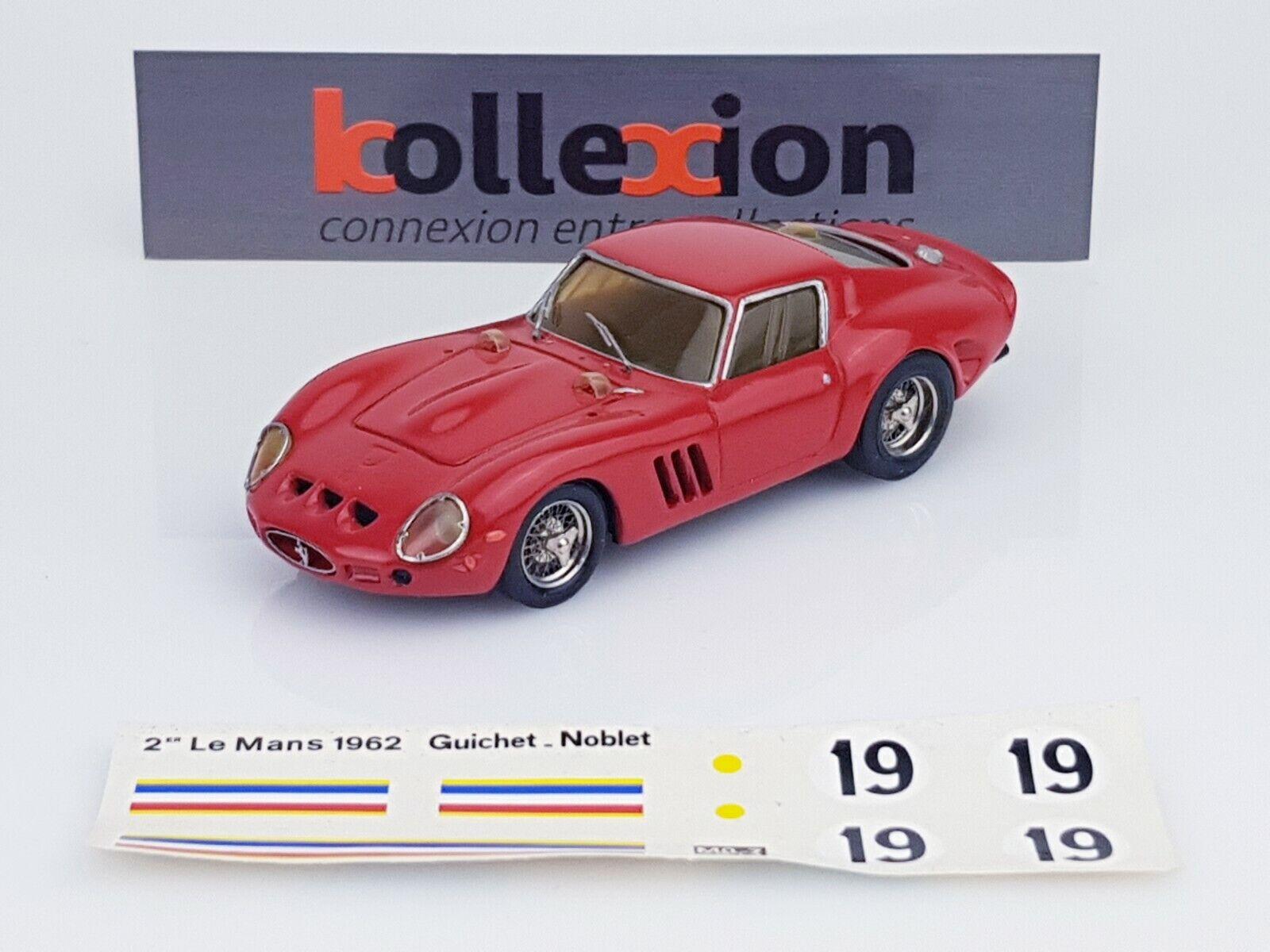 TENARIV AMR FERRARI 250 GTO n°19 2nd Le Mans 1962 Guichet - Noblet 1.43