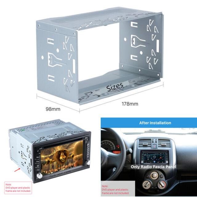 Universal Car Stereo Radio Fascia Frame Dash Panel Metal Cage ...