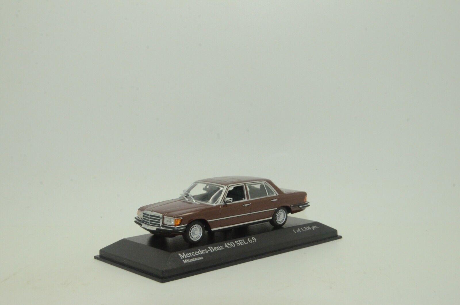 Mercedes 450 Sel 6.9 1974 Marrón Metálico Minichamps 39209 1 43