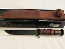 KABAR KA-Bar 1217 USMC Fixed Blade Fighting Knife with Leather Sheath NEW