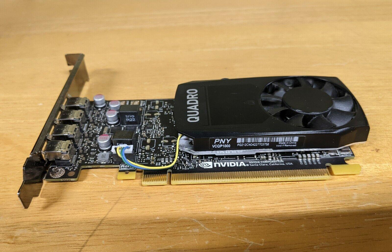NVIDIA Quadro P1000 - Graphics card - 4 GB GDDR5 - PCIe 3.0 x16