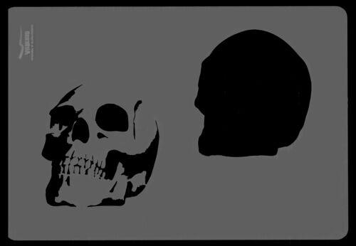 Plus difficile /& steenbeck aérographe pochoirs-Skull Set 2
