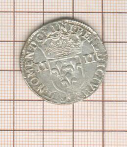 Louis XIII 1/4 Quarter D' ECU IN The Hammer 1643 F Angers