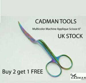 2x Embroidery and Duckbill Machine Scissor Sewing Scissor Multicolor 6 inch