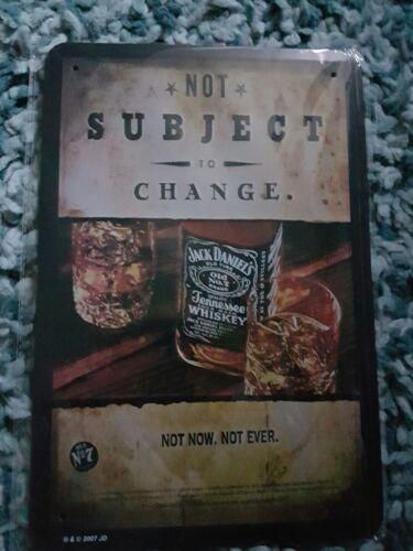 Jack Daniels no sujetas a cambio Letrero De Metal Cerveza cobertizo Cueva de hombre Bar Pub garaje