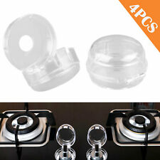 8PCS Kitchen Transparent Gas Stove Knob Covers Oven Knobs Protector Child Safety Locks Gas Cooker Switch Protective Cover for Children ACMEDE Stove Knob Covers