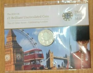 2010 Royal Mint UK Brilliant Uncirculated £1 Cities Series London Sealed