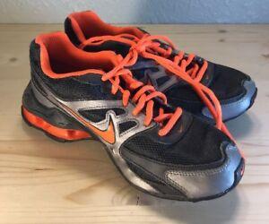 NIKE REAX RUN Black Gray Orange Running