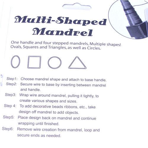 Un conjunto de 4 Piezas Multi Mandril De Alambre Conformación Herramienta para la fabricación de joyas