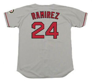cheap for discount f2ea4 5c1e1 Details about MANNY RAMIREZ Boston Red Sox 2004 Majestic Throwback Away  Baseball Jersey