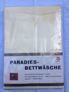 Paradies-Bettwaesche-Vintage-2-Bettlaken-SANIFOR-gelb-ca-150x250-mm-in-OVP