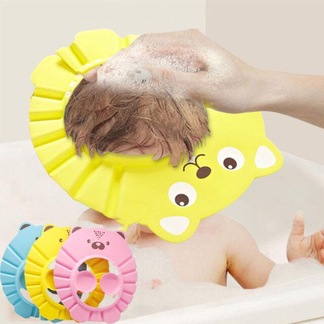 1pc Baby Kids Shampoo Bathing Shower Soft Cap Hat Wash Hair Shield Adjustable For Sale Ebay