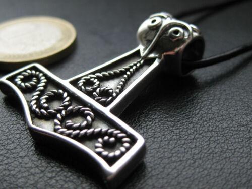 Thor s Hammer 925/'er silber Kettenanhänger Mjölnir KA 404