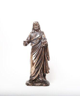Jesus Christ Standing Holy Figurine Christianity Decorative Bronze Color Statue Ebay