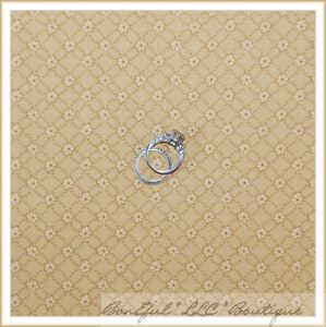 BonEful-Fabric-FQ-Cotton-Quilt-VTG-Brown-Tan-Cream-Calico-Flower-STRIPE-Check-US