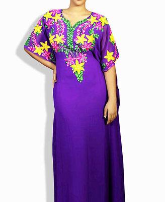GET THIS MODERN MACHINE EMBROIDERY KAFTAN GOWN FOR AUSTRALIAN WOMEN  DRESS