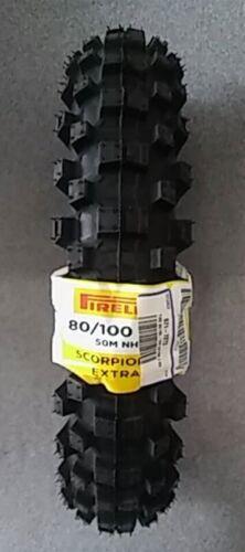 PIRELLI SCORPION 80//100-12 REAR MX EXTRA-J OFF-ROAD DIRT TIRE COBRA CX65 07-16