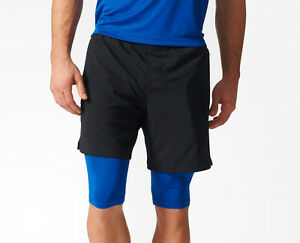2 in 1 adidas shorts