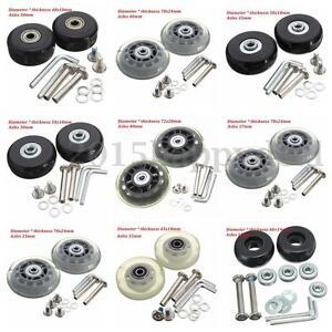 10 tama o od 40mm 72mm 2 piezas equipaje maleta ruedas goma repuesto ejes lujo ebay - Tamano silla de ruedas ...