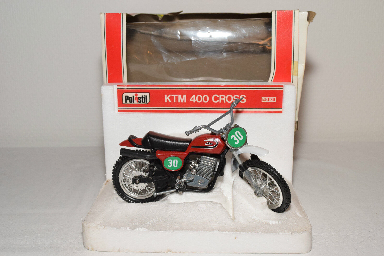 POLISTIL MS621 MS 621 MS-621 KTM 400 CROSS rouge MINT BOXED RARE SELTEN RARO
