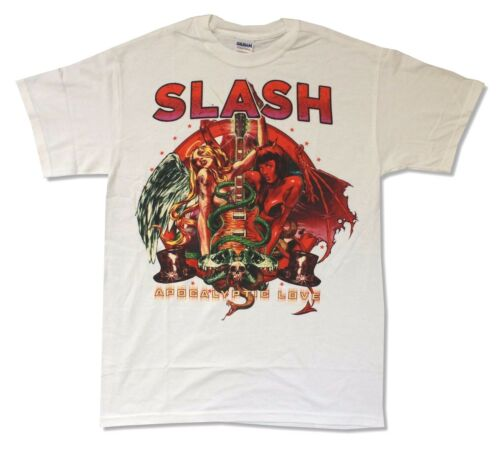 Slash Apocalyptic Love White Band T Shirt New Official